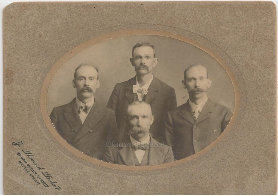 Butterfield brothers_bottom Orlo_left Carl_middle Oscar_right Elmer_photo taken in Michigan