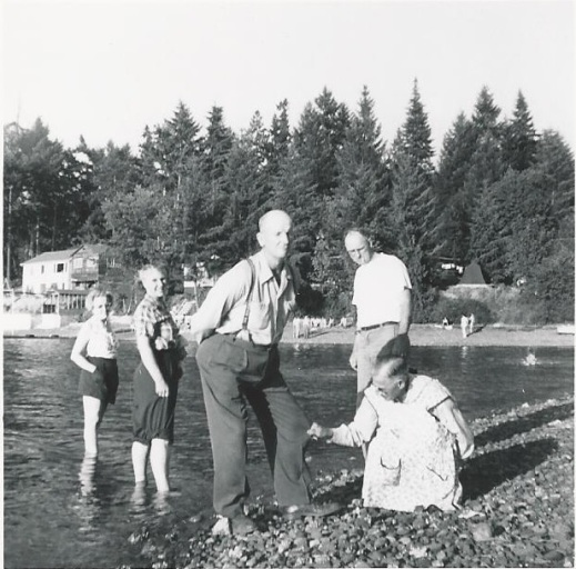 butterfield lalla ed haggie hazel kasae connie elton_hood canal_june 1956