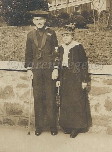 geier carl j and likely his mother Bertha Servatius Geier Keane_circa 1917 or 1920 before or after Carl entered Navy
