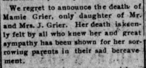 Geier Mamie Obit_The Sanders County Ledger_29 Jan 1909 pg 2