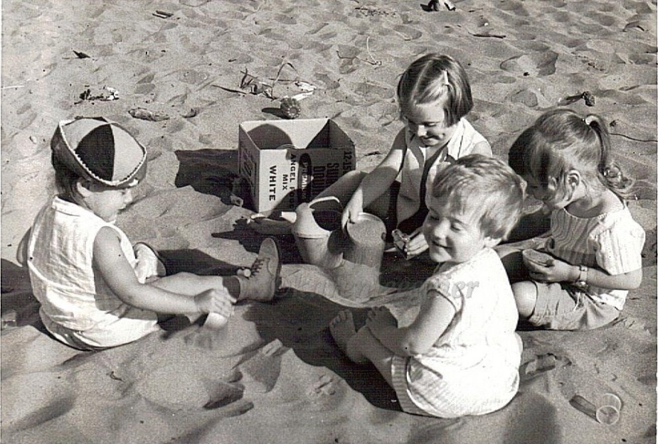 geier_cousins at beach_early 60s