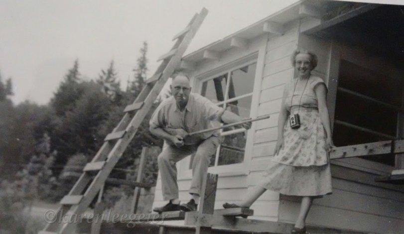 Haggie grandpa and grandma Lalla_early 50s Hood Canal