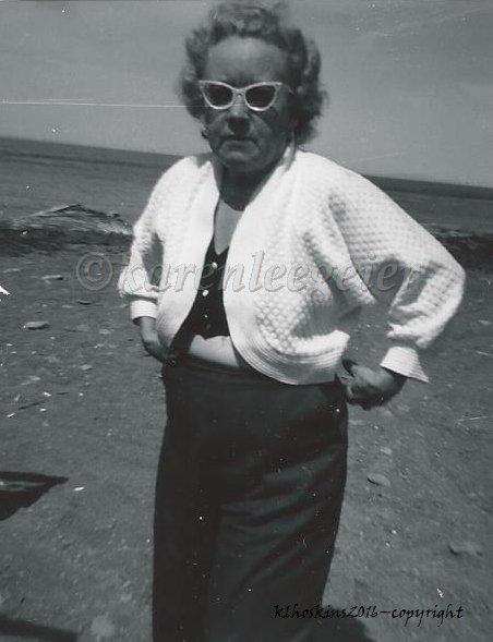 My grandaunt, Hazel, grandma's sister
