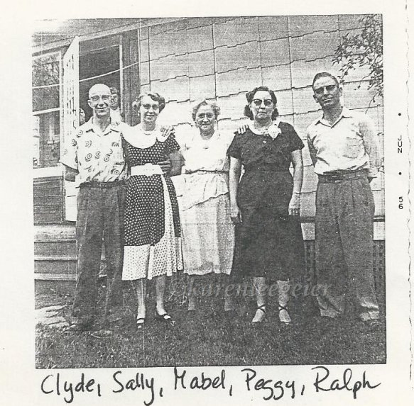todd_clyde cooper and ruthhollis sally_mabel todd_gracelynna peggy jane and ralph jane_MI 1956