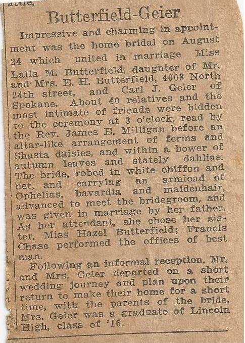 geier carl_butterfield lalla_news announcement of wedding_24 aug 1921