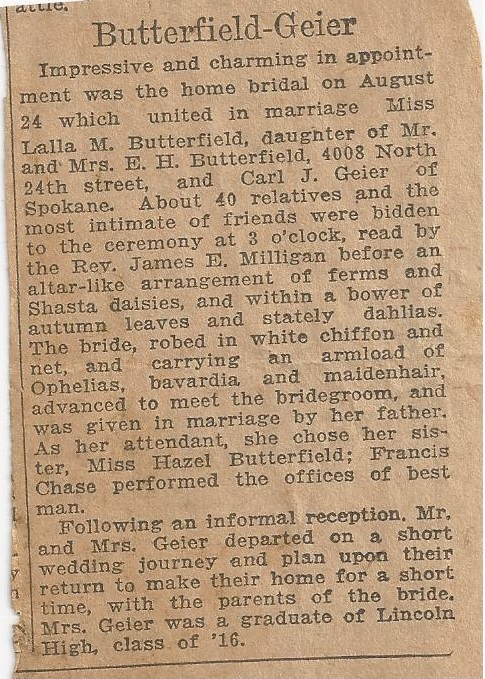 geier carl_butterfield lalla_news announcement of wedding_24 aug 1921