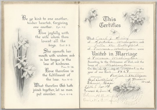 geier carl_lalla butterfield wedding certificate_seal from st paul methodist church tacoma
