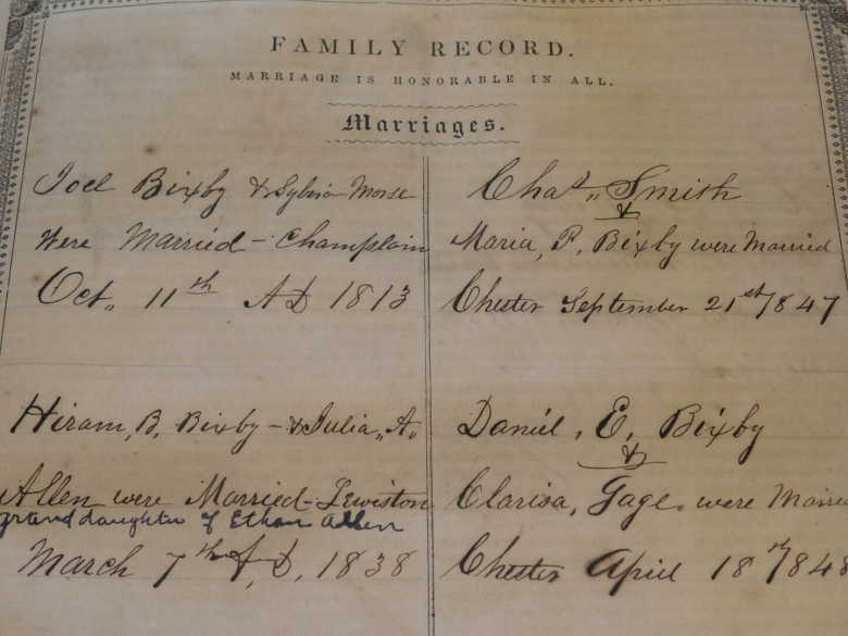 smith_family marriage records_charles and maria bixby_21 Sept 1847_Bixby family Bible_James Dreher