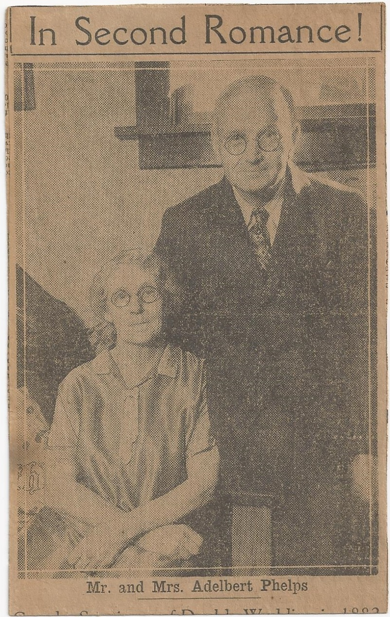 smith_sarah emeline smith langton_adelbert phelps second marriage_news clip_pg 1