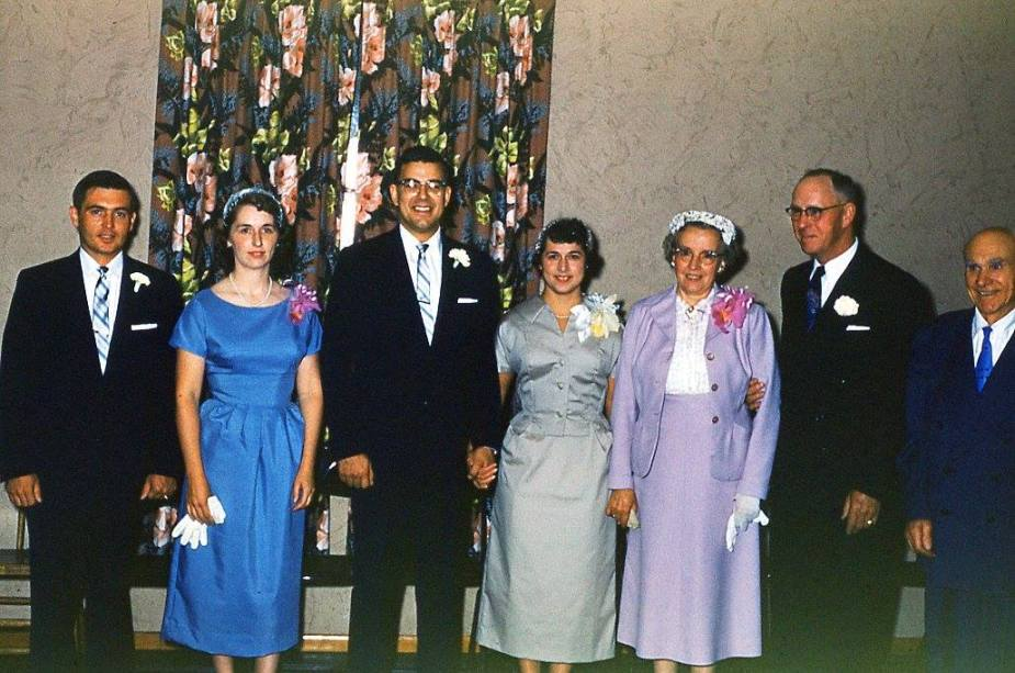 geier appell wedding_rod and margaret_bill lawyer carol sather eddie haggie lalla haggie primo mazzoncini_3 aug 1957_mcampbell