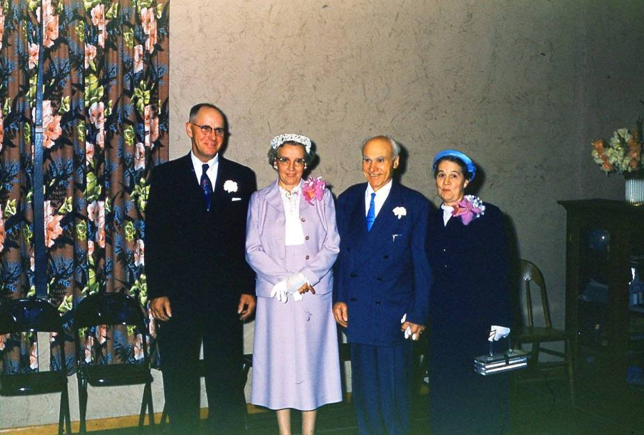 haggie geier mazzoncini patterson_ed lalla primo margaret_rod and marg wedding aug 3 1957_mcampbell