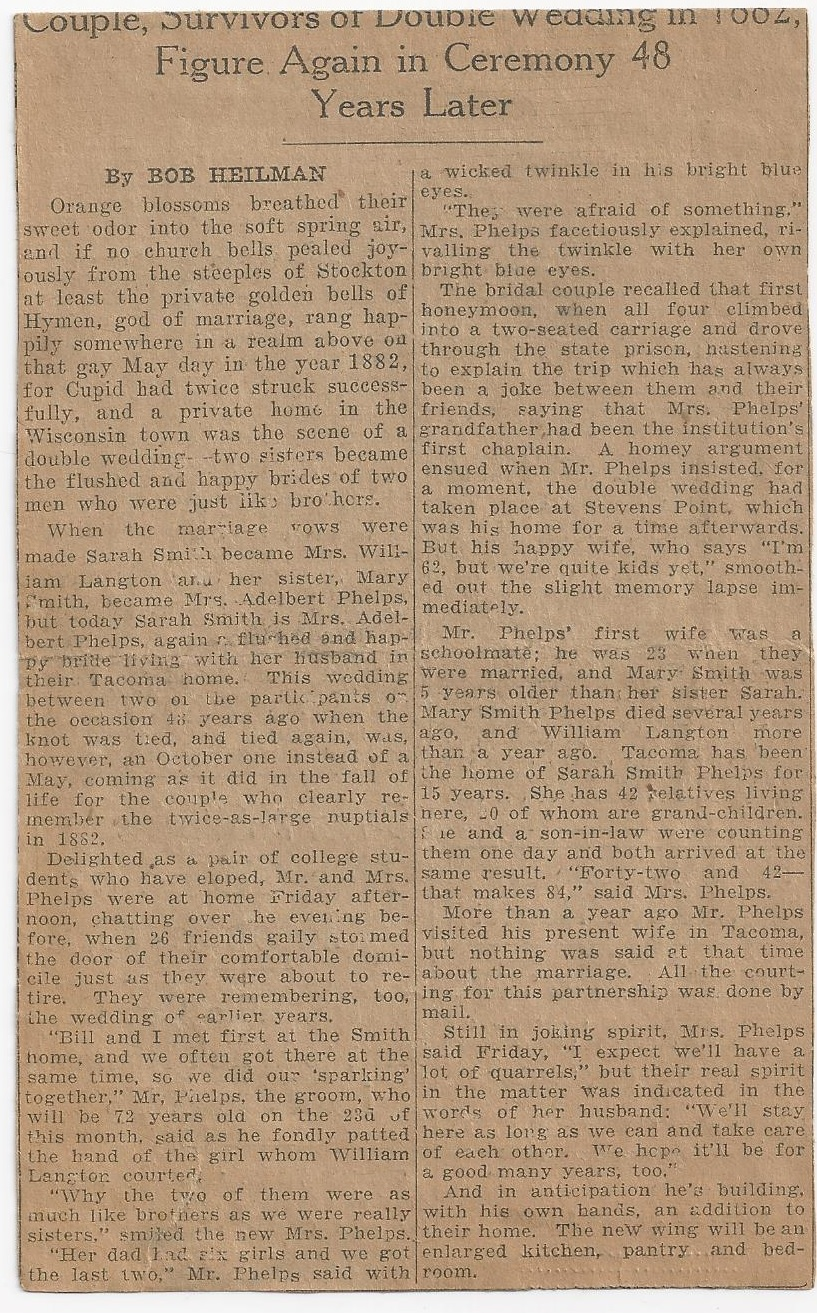 smith_sarah emeline smith langton_adelbert phelps second marriage_news clip page 2