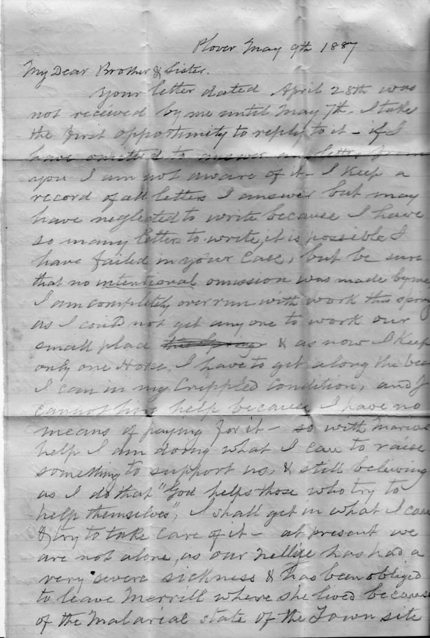 Smith_Chas smith to charlotte hooker 1887_Page 1_jdreher