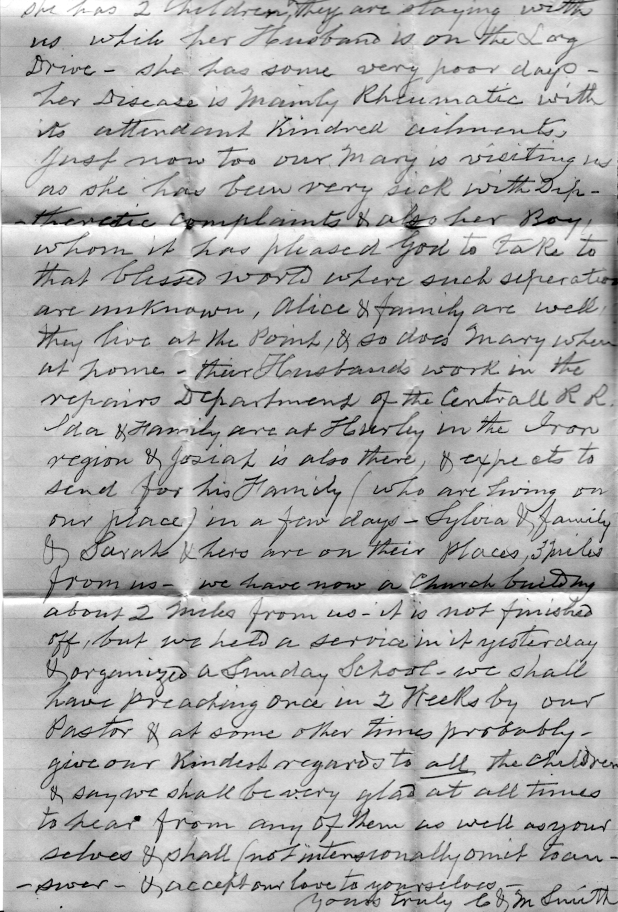 Smith_Chas smith to charlotte hooker 1887_Page 2 from Jerry Dreher